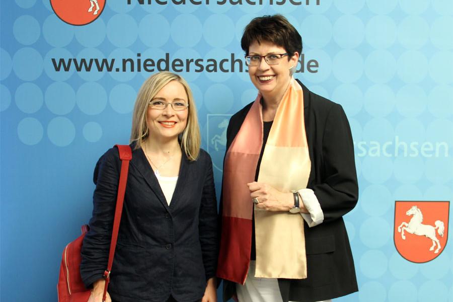 Dörte Liebetruth und Birgit Honé