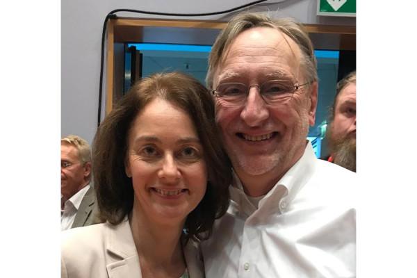SPD-Spitzenkandidatin Katarina Barley und Europaabgeordneter Bernd Lange.