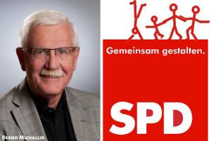 Bernd Michallik mit Logo: Gemeinsam gestalten