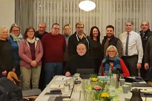 Die SPD-Kommunalpolitiker beim Besuch des Mehrgenerationenhauses am Hoppenkamp