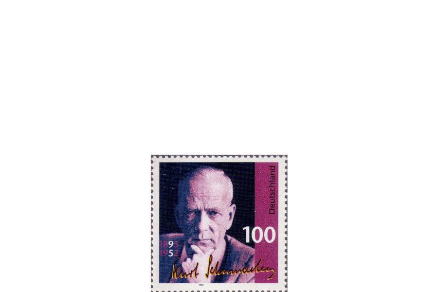 Briefmarke zum 100. Geburtstag Schumachers