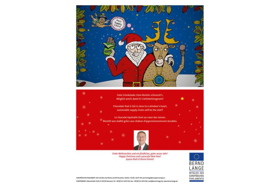 Bild: Rentier und Weihnachtsmann