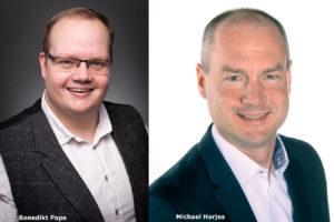 Bendikt Pape und Michael Harjes