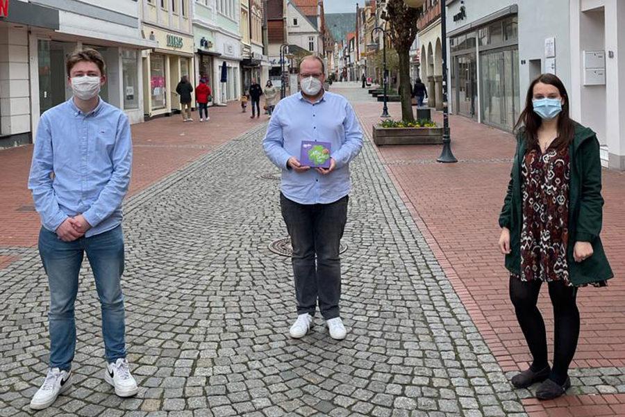 Auf dem Bild von links nach rechts: Matti Rappenhöner, Bene Pape und Kira Georg